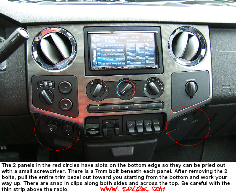double din in a 04 f250 powerstrokenation ford. Black Bedroom Furniture Sets. Home Design Ideas